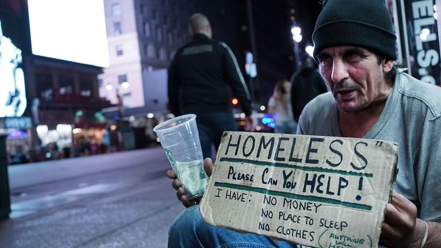 Les sans-abri en hausse à New York