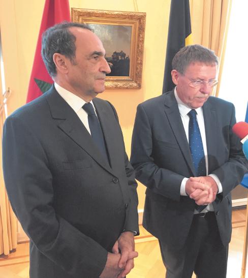 Entretiens entre Habib El Malki et Siegfried Bracke à Bruxelles