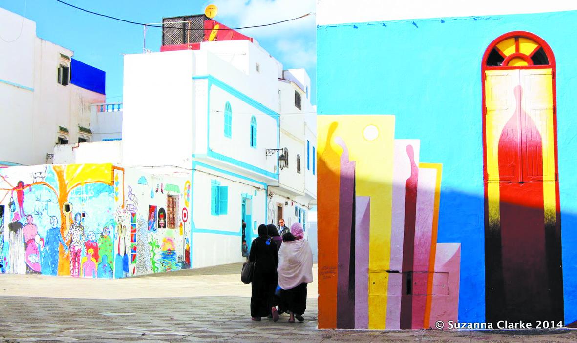 """L'atelier """"Street Art"""", une expérience novatrice visant  à enjoliver et à renouveler l'âme enfantine d'Assilah"""