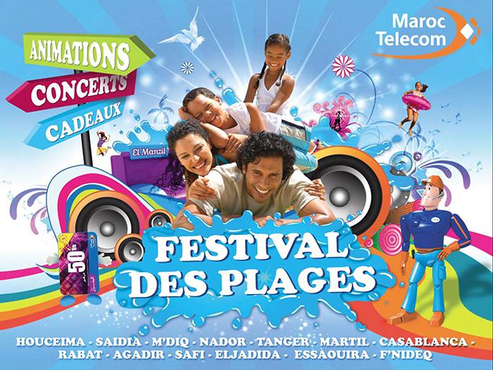 """Le """"Festival des plages Maroc Telecom"""" bat son plein"""