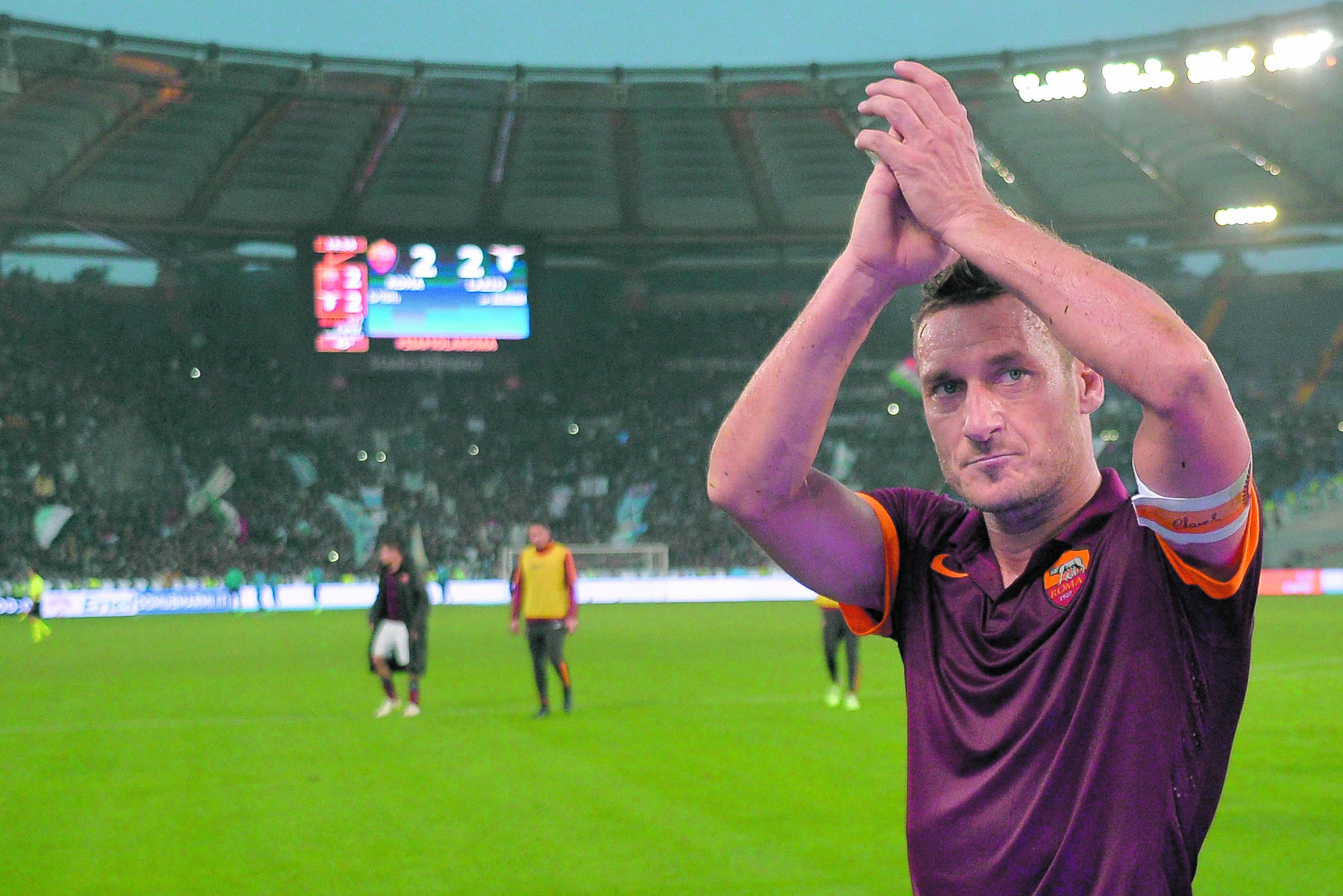 Totti : La première  partie de ma vie de  footballeur est terminée et maintenant une plus importante est sur  le point de débuter