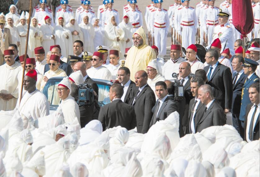 S.M le Roi préside la cérémonie d'allégeance à Tétouan