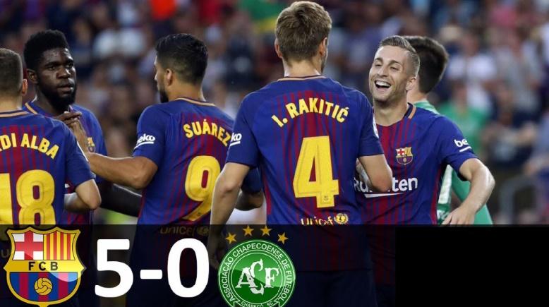 L'hommage du Barça de l'après-Neymar à Chapecoense