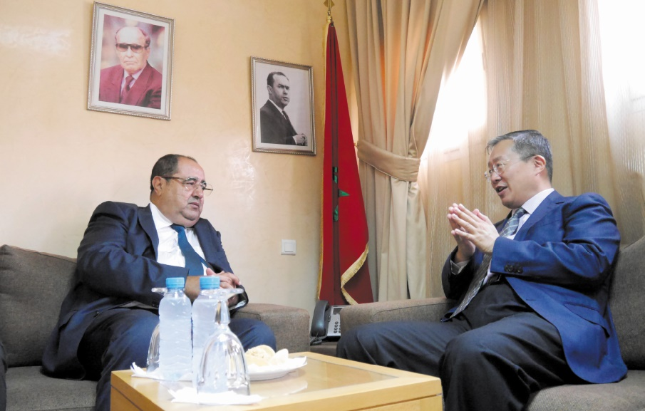 Driss Lachguar reçoit le nouvel ambassadeur de Chine
