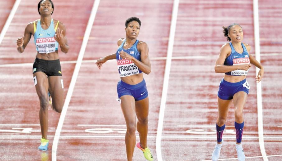 Phyllis Francis, la surprise du 400 m des Mondiaux d'athlétisme de Londres