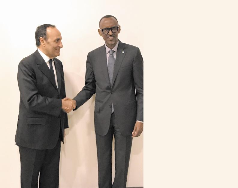 Le Président rwandais reçoit Habib El Malki