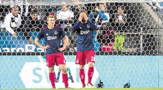 L'Ajax Amsterdam, finaliste l'an dernier, victime des barrages de  l'Europa League