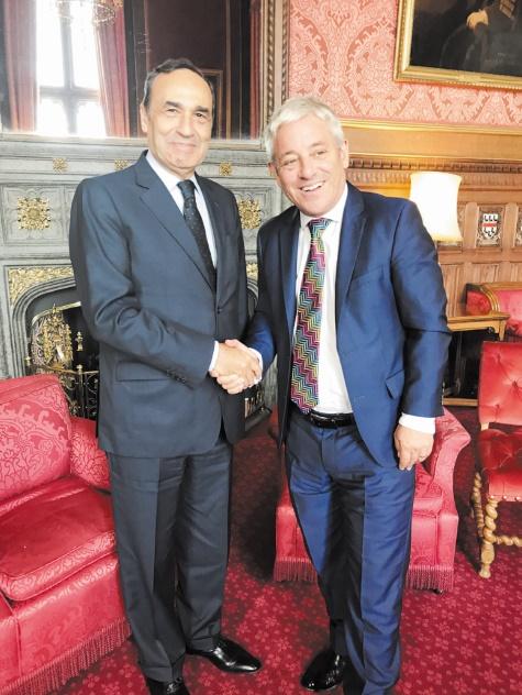 Habib El Malki s'entretient à Londres avec le ministre britannique chargé de l'Afrique du Nord & Moyen-Orient et avec le président de la Chambre des communes