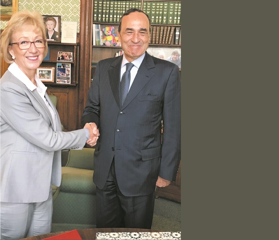 Habib El Malki s'entretient à Londres avec la ministre  britannique chargée des relations avec le Parlement