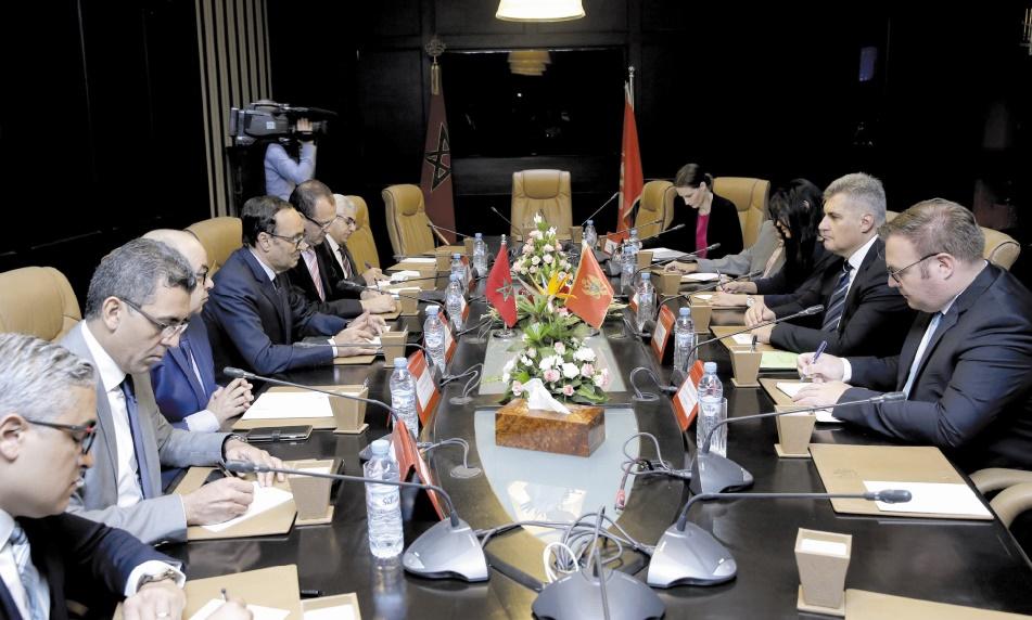 Habib El Malki s'entretient avec le président de l'Assemblée nationale du Monténégro