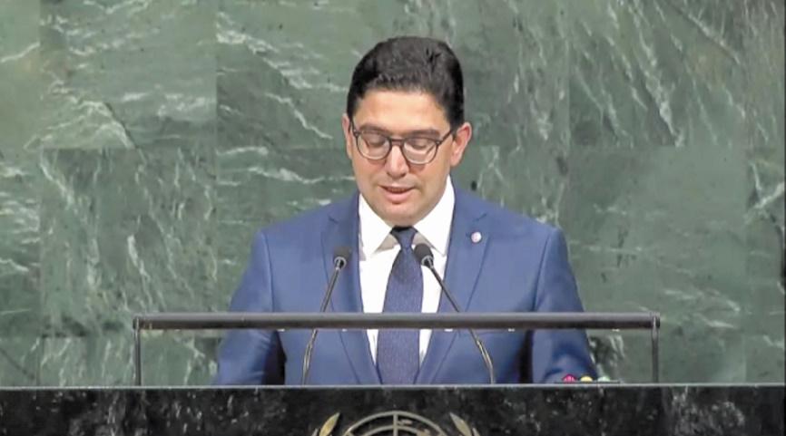 Nasser Bourita devant l'Assemblée générale de l'ONU