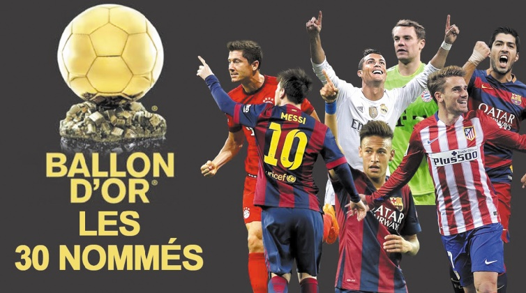 La liste des 30 nommés pour le Ballon d'Or : Le Real en force