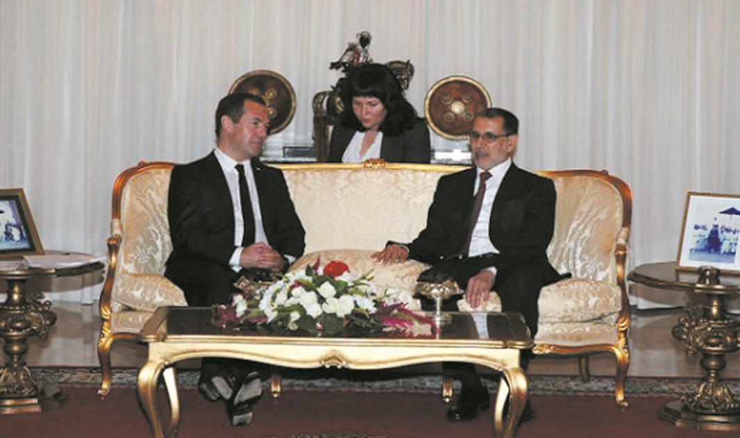 Dmitri Medvedev et Saâd Eddine El Othmani.