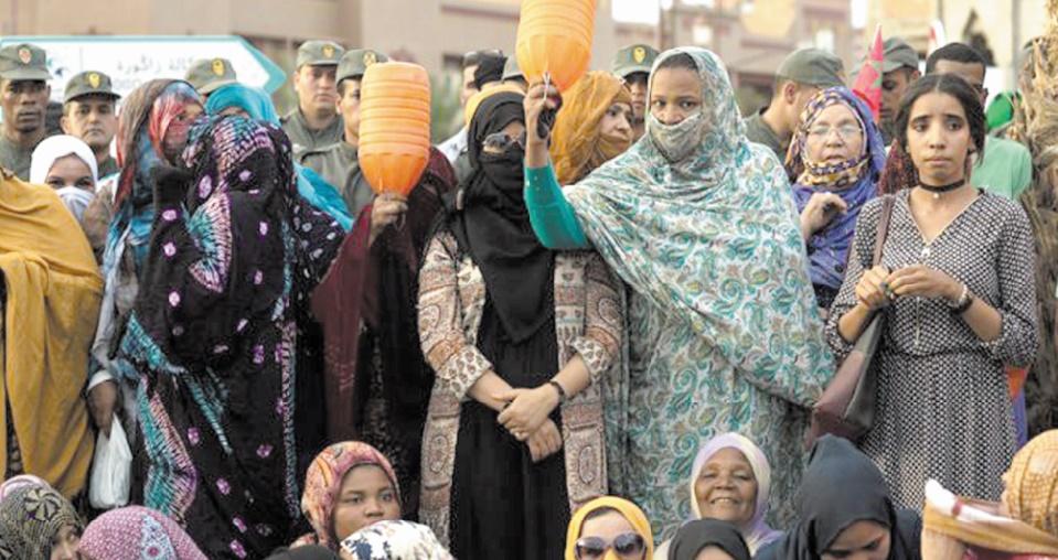 Manifestation contre la pénurie d'eau à Zagora.