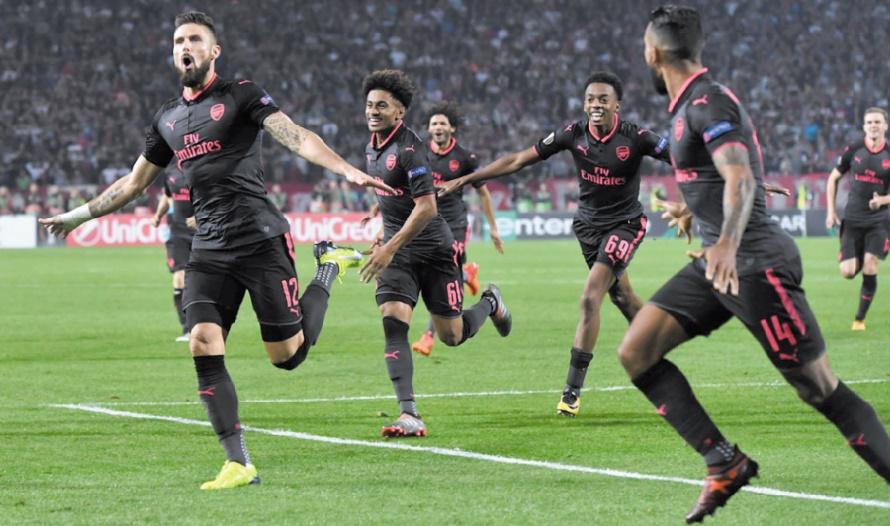 Europa League : Arsenal et Milan sans génie mais toujours leaders
