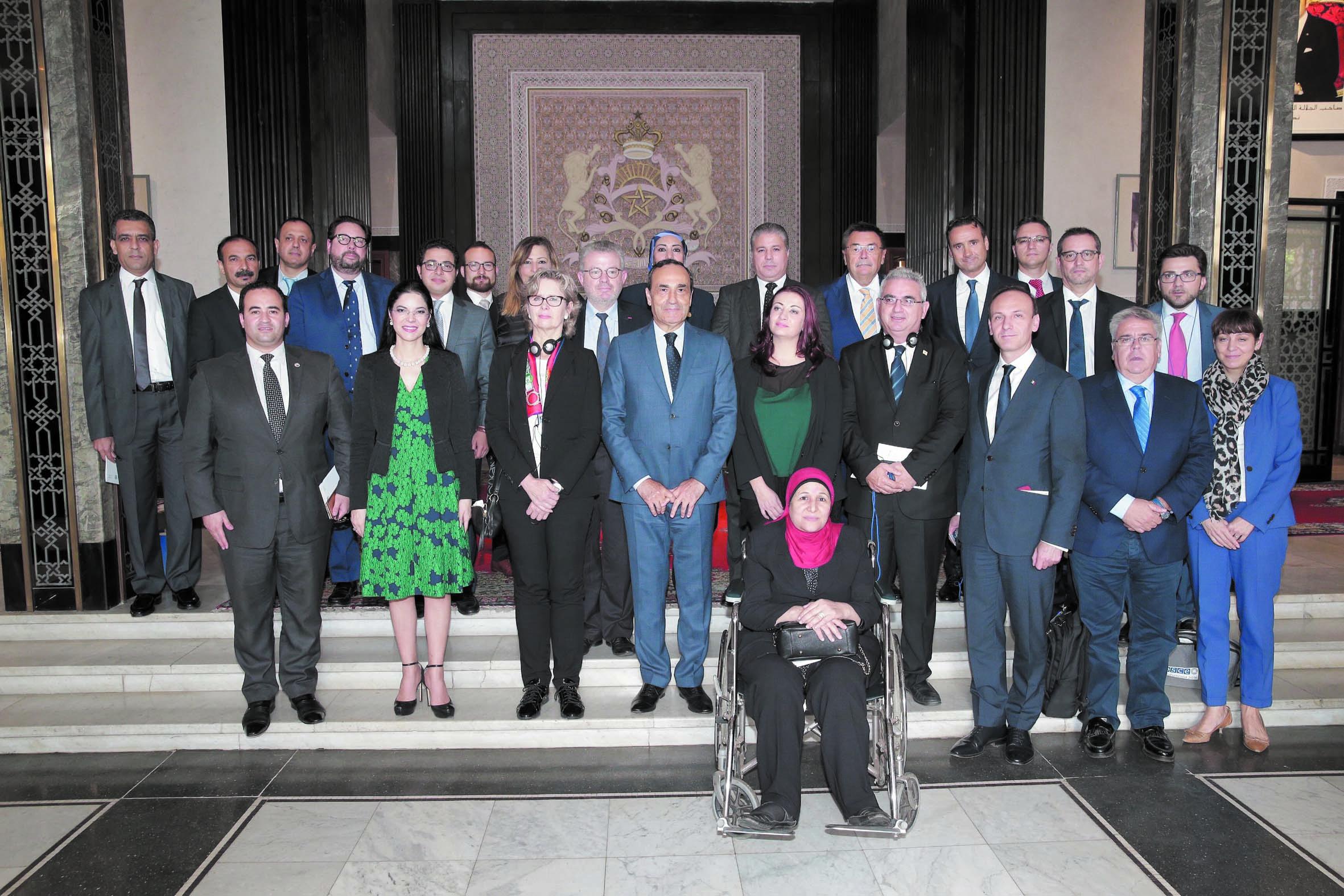 Habib El Malki s'entretient avec une délégation de l'OSCE