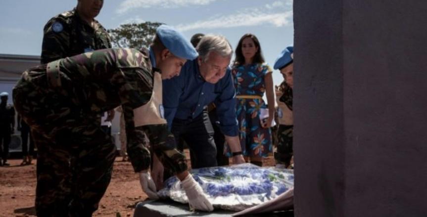 Antonio Guterres rend hommage aux Casques bleus marocains