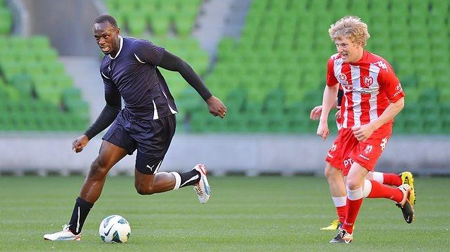 Usain Bolt future star de foot