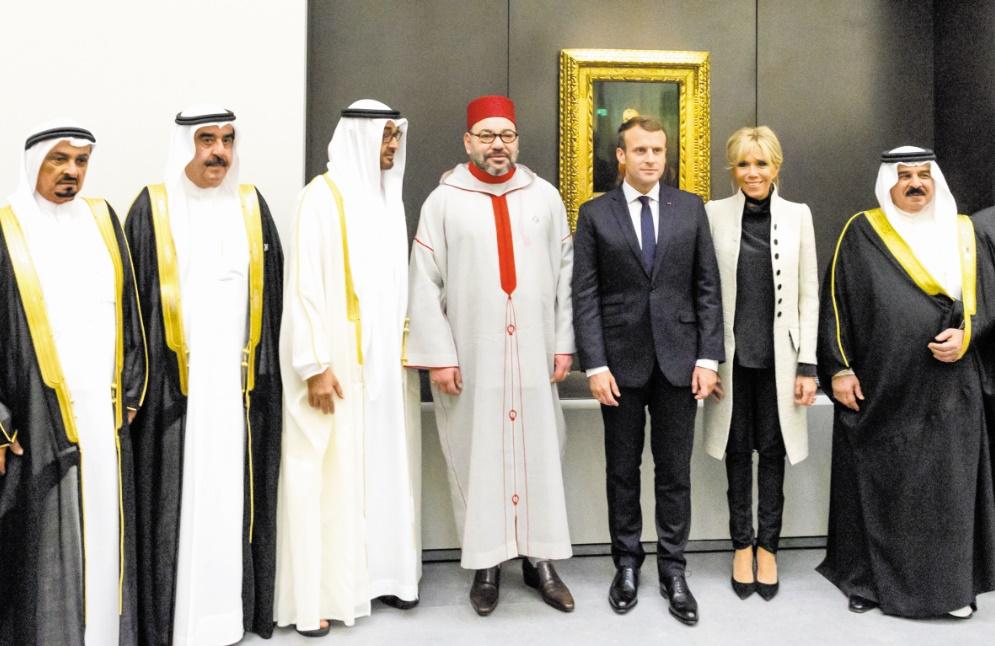 S.M le Roi prend part à la cérémonie d'ouverture du Louvre Abou Dhabi