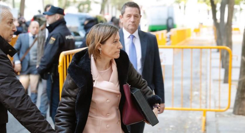 La présidente du parlement catalan verse la caution permettant sa sortie de prison