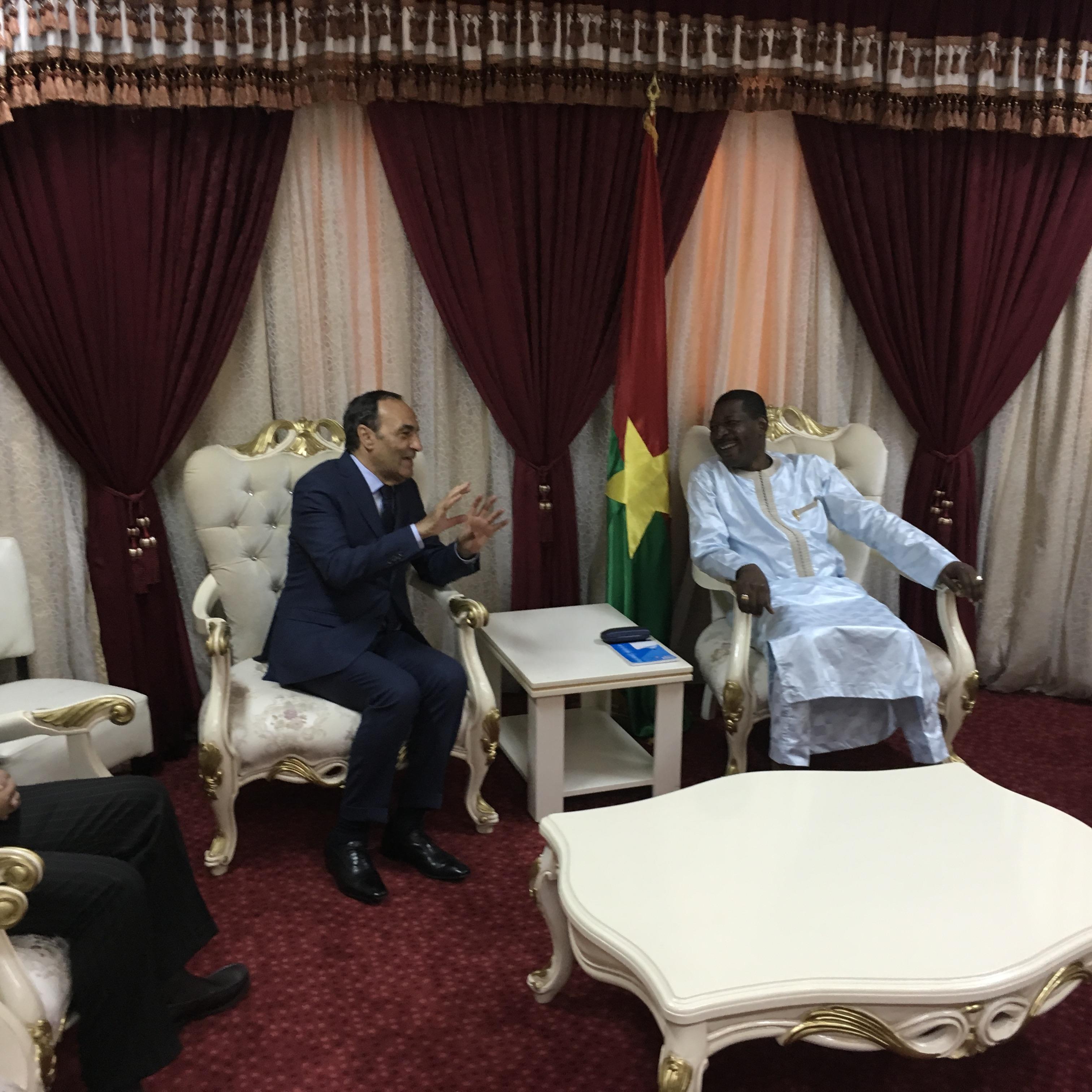 Entretiens entre Habib El Malki et son homologue burkinabé