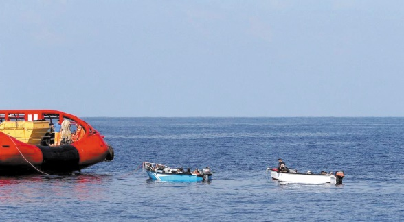Sauvetage de 9 immigrants clandestins irréguliers au large de la Tunisie