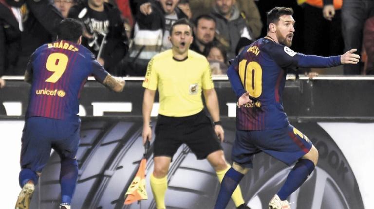 Liga : Le Barça évite le pire à Valence