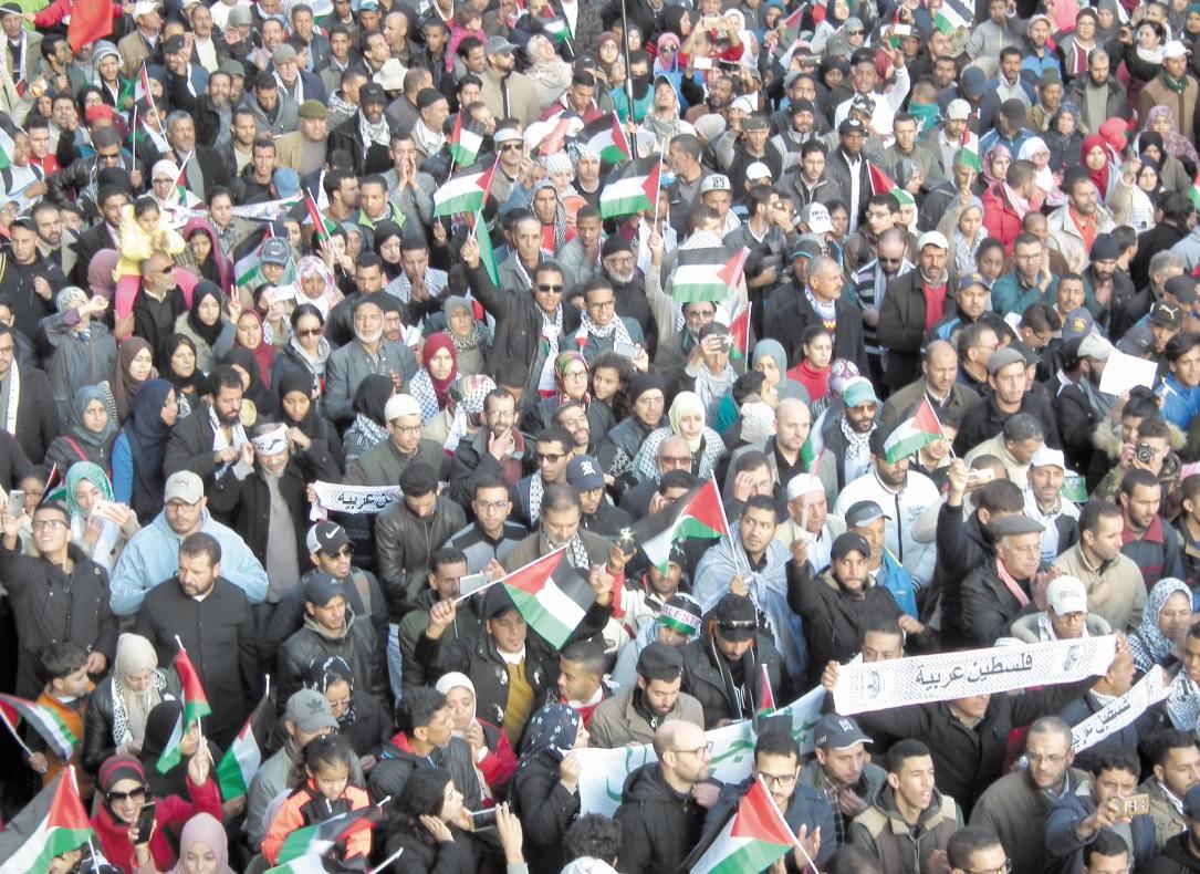 Tous pour Al-Qods. Tous pour la Palestine : Les Marocains unanimes fustigent la forfaiture de Donald Trump