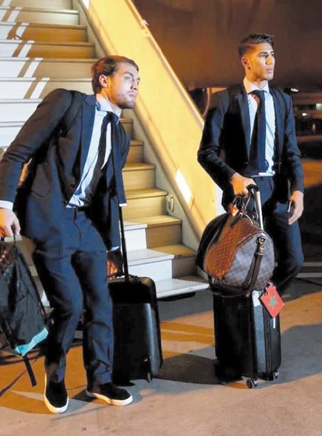 Achraf Hakim fier de ses origines marocaines. Il n'a pas manqué de le montrer  en attachant un petit drapeau des couleurs nationales sur sa valise lors du déplacement du Real à Abou Dhabi pour participer au Mondial des clubs.
