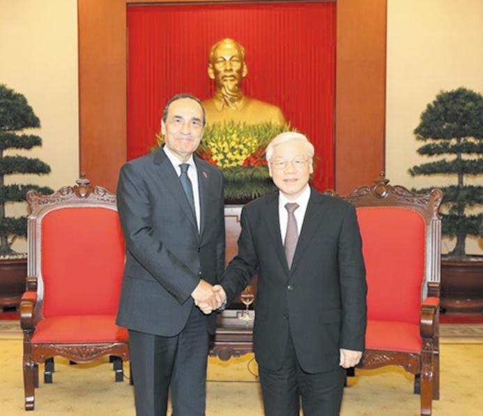 Habib El Malki et Nguyen Phu Trang.