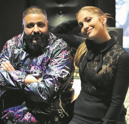 Jennifer Lopez au studio de Dj Khaled