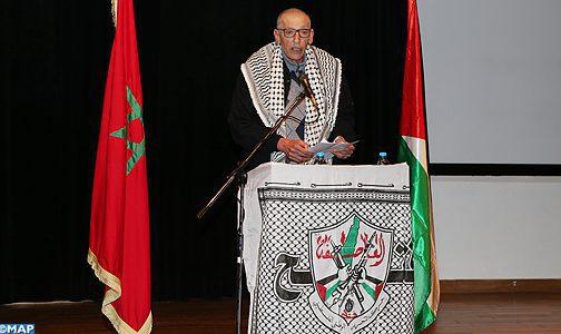 Important meeting à Rabat en commémoration du 53ème anniversaire de la révolution palestinienne
