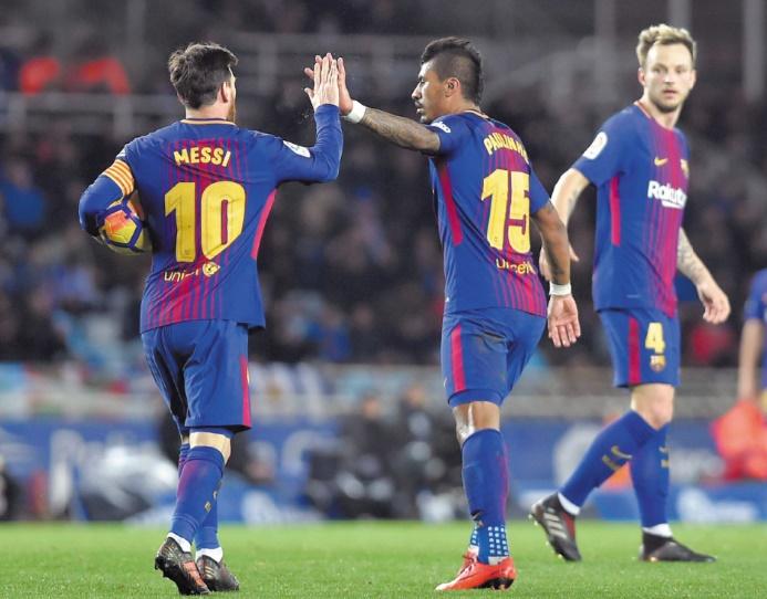 Le Barça renverse la vapeur à Saint-Sébastien