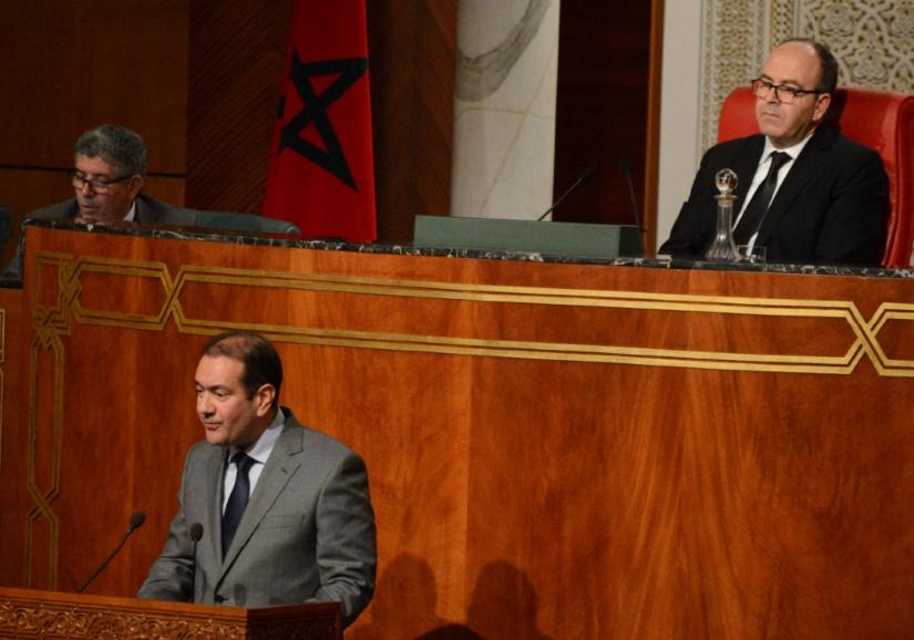 Mohamed Alami lors de son intervention.                                 Phs: Lmoussaoui