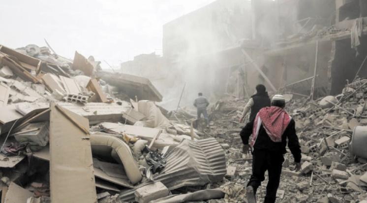 Troisième jour de raids meurtriers de Damas sur la Ghouta orientale