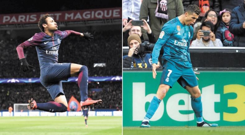 Ronaldo et Neymar nés sous la même étoile