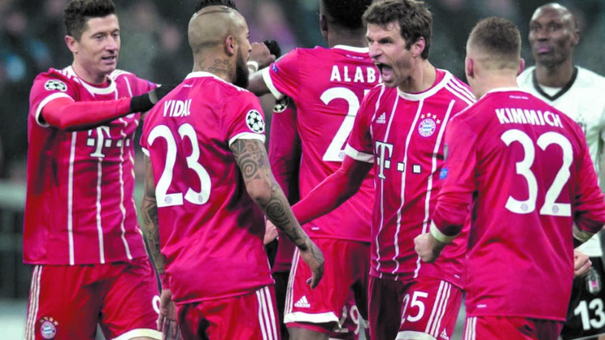 Le Bayern met KO Besiktas avec des doublés de Müller et Lewandowski
