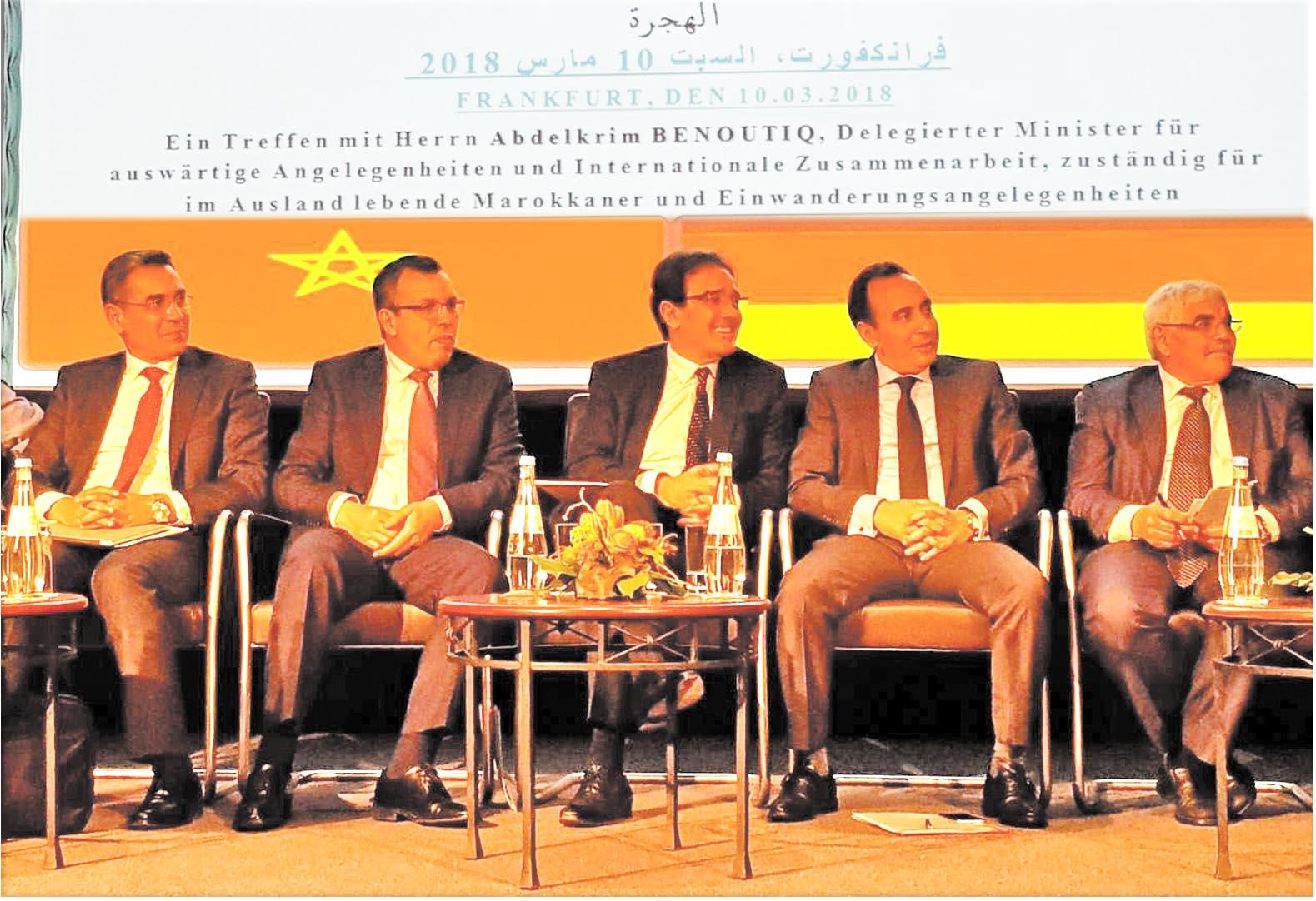 Abdelkrim Benatiq rencontre la communauté marocaine établie à Francfort