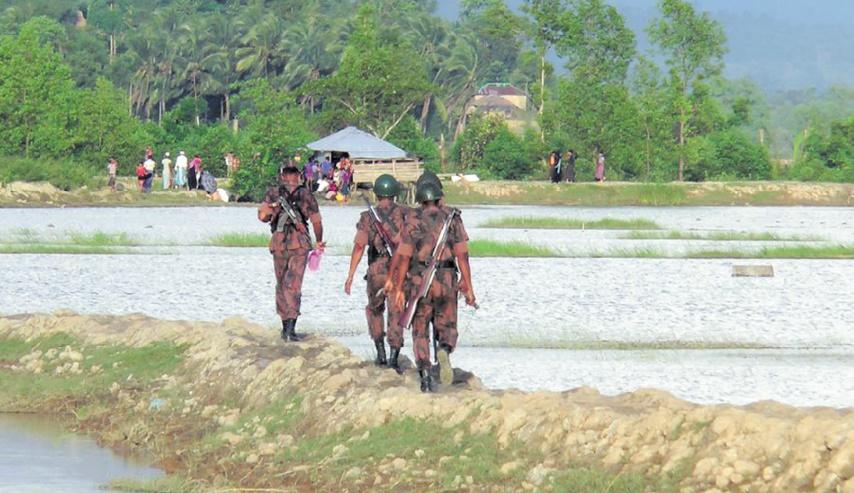 Des bases militaires construites sur d'anciens villages rohingyas