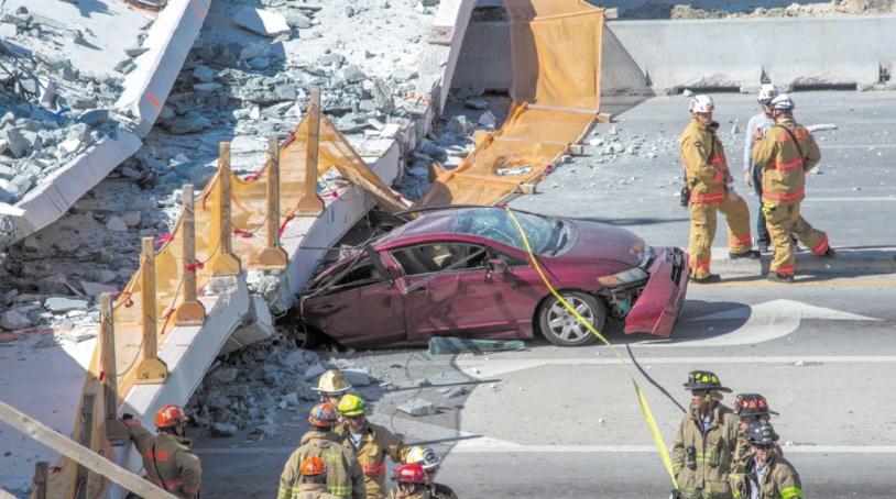 Au moins 6 morts dans l'effondrement d'un pont à Miami