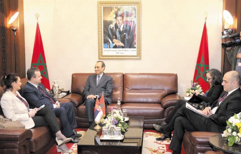 Le président de la Chambre des représentants s'entretient avec le ministre serbe des Affaires étrangères