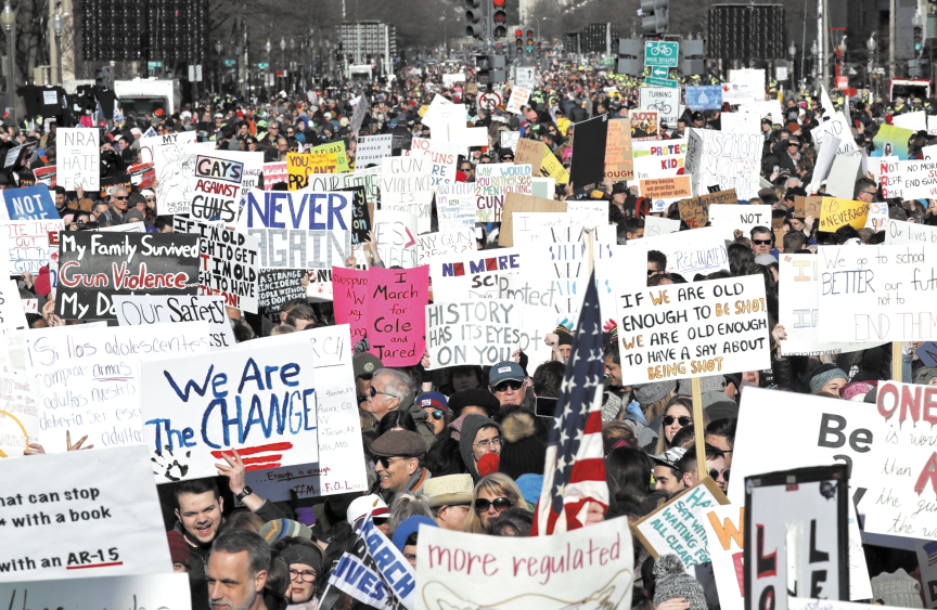 Marée humaine aux Etats-Unis contre les armes à feu