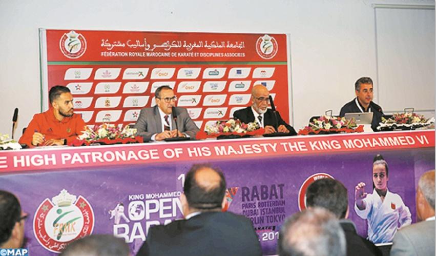 Tableau relevé à la 14ème édition de la Coupe internationale Mohammed VI de karaté