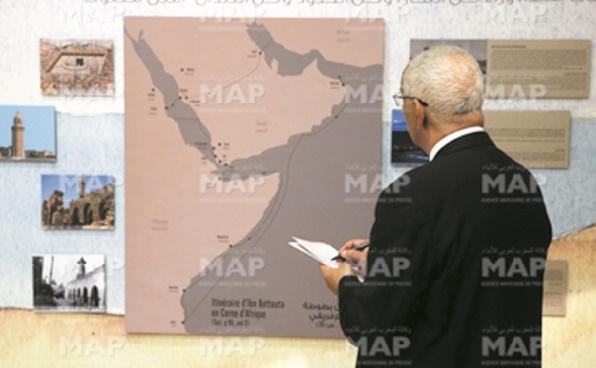 """L'exposition """"Sur les traces d'Ibn Battouta"""" inaugurée à Rabat"""