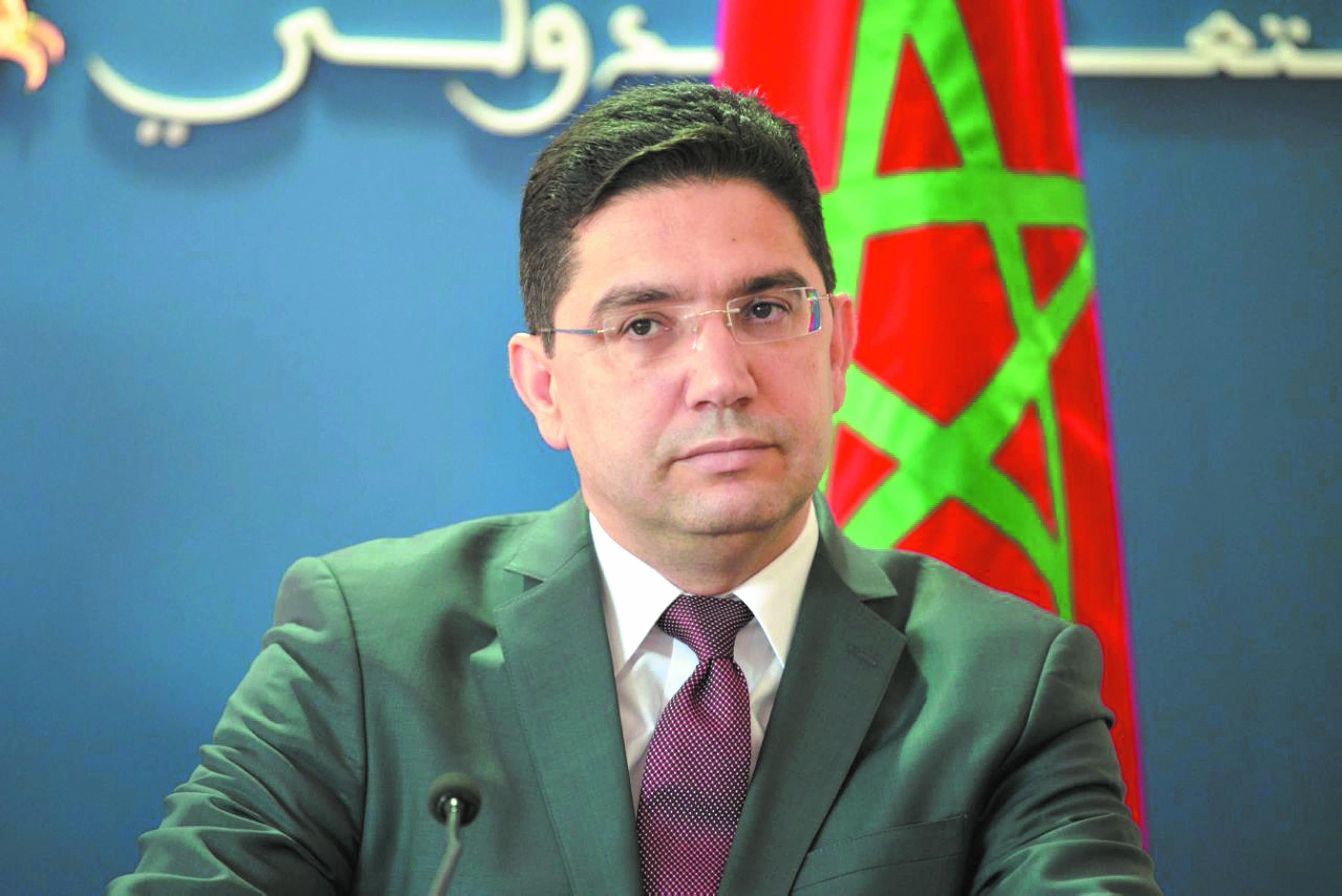Nasser Bourita, ministre  des Affaires étrangères  et de la Coopération  internationale.