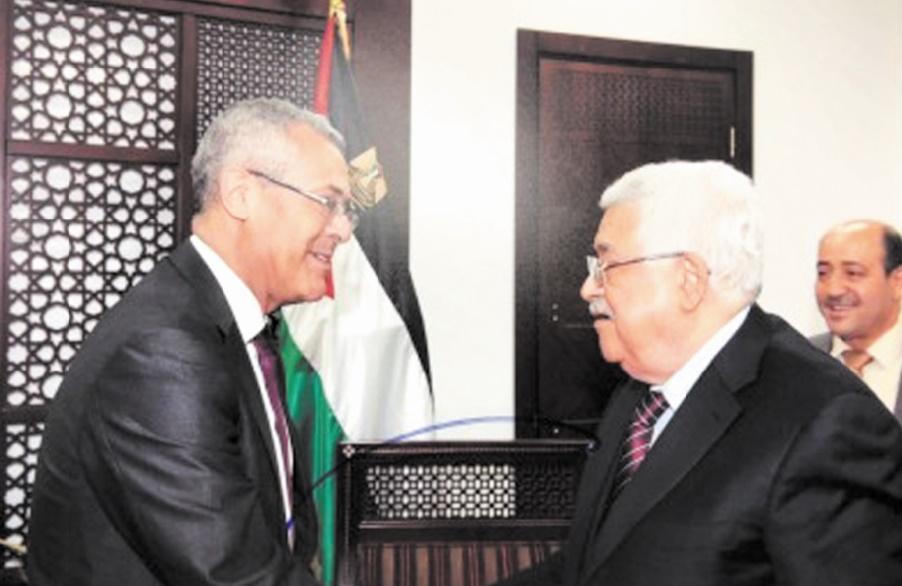 Mahmoud Abbas reçoit Mohamed Benabdelkader à Ramallah