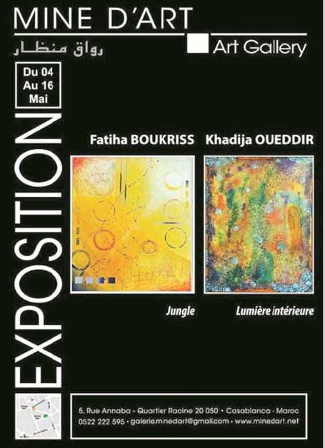 Fatiha Boukhriss et Khadija Oueddir exposent à Mine d'Art