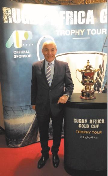 Le trophée de la Rugby Africa Gold dévoilé à Bruxelles