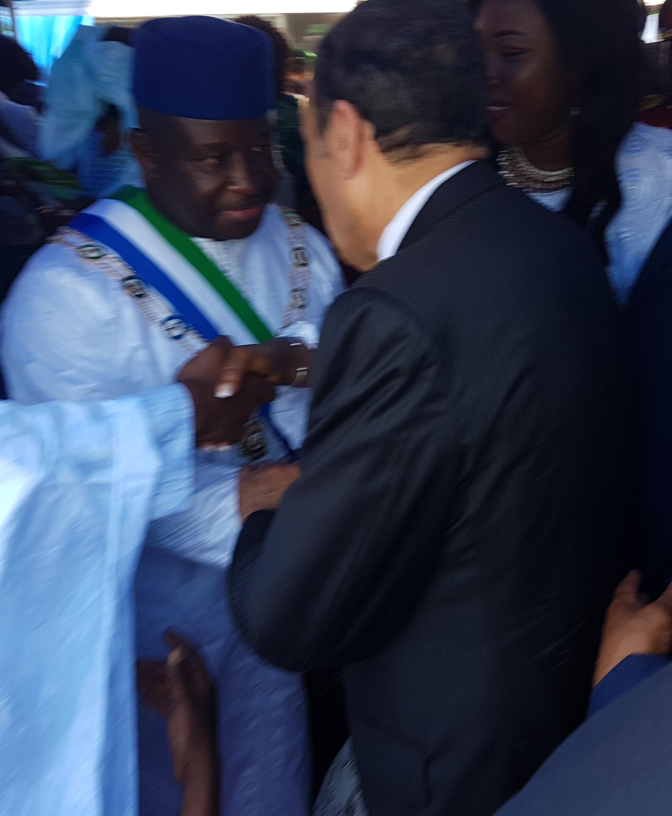 Habib El Malki représente S.M le Roi à la cérémonie d'investiture du président sierra-léonais