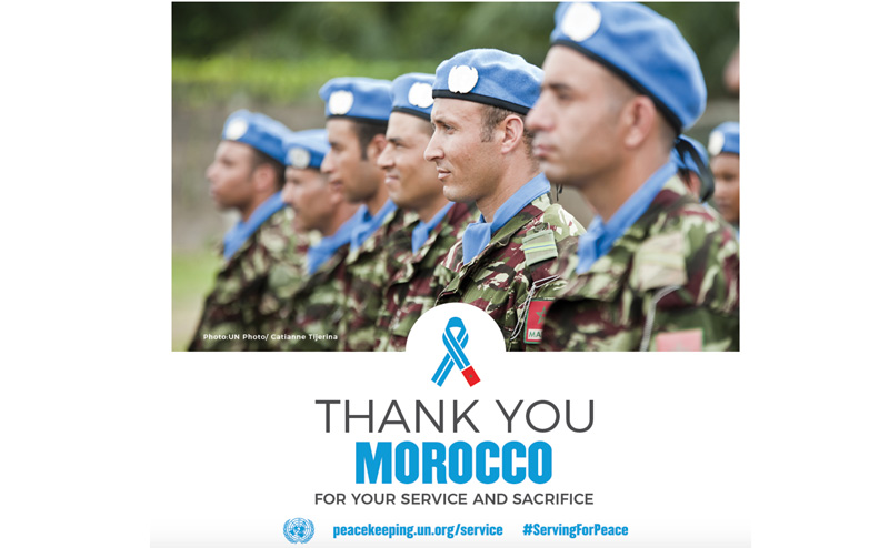 Sept Casques bleus marocains honorés